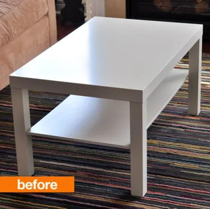 lack sofa table as desk ella cherry wood before amp after noelle s painted ikea hack apartment therapy no doubt about it we love a good ve seen quite few but coffee transformation has us green with envy