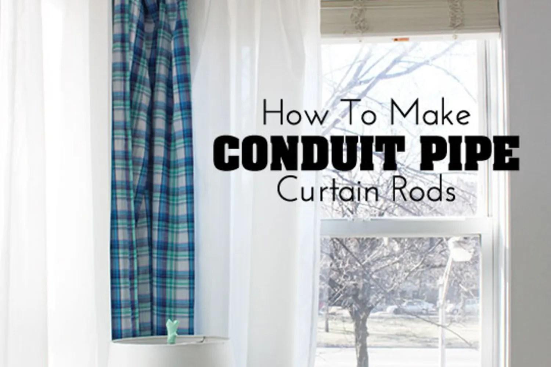conduit pipe curtain rods