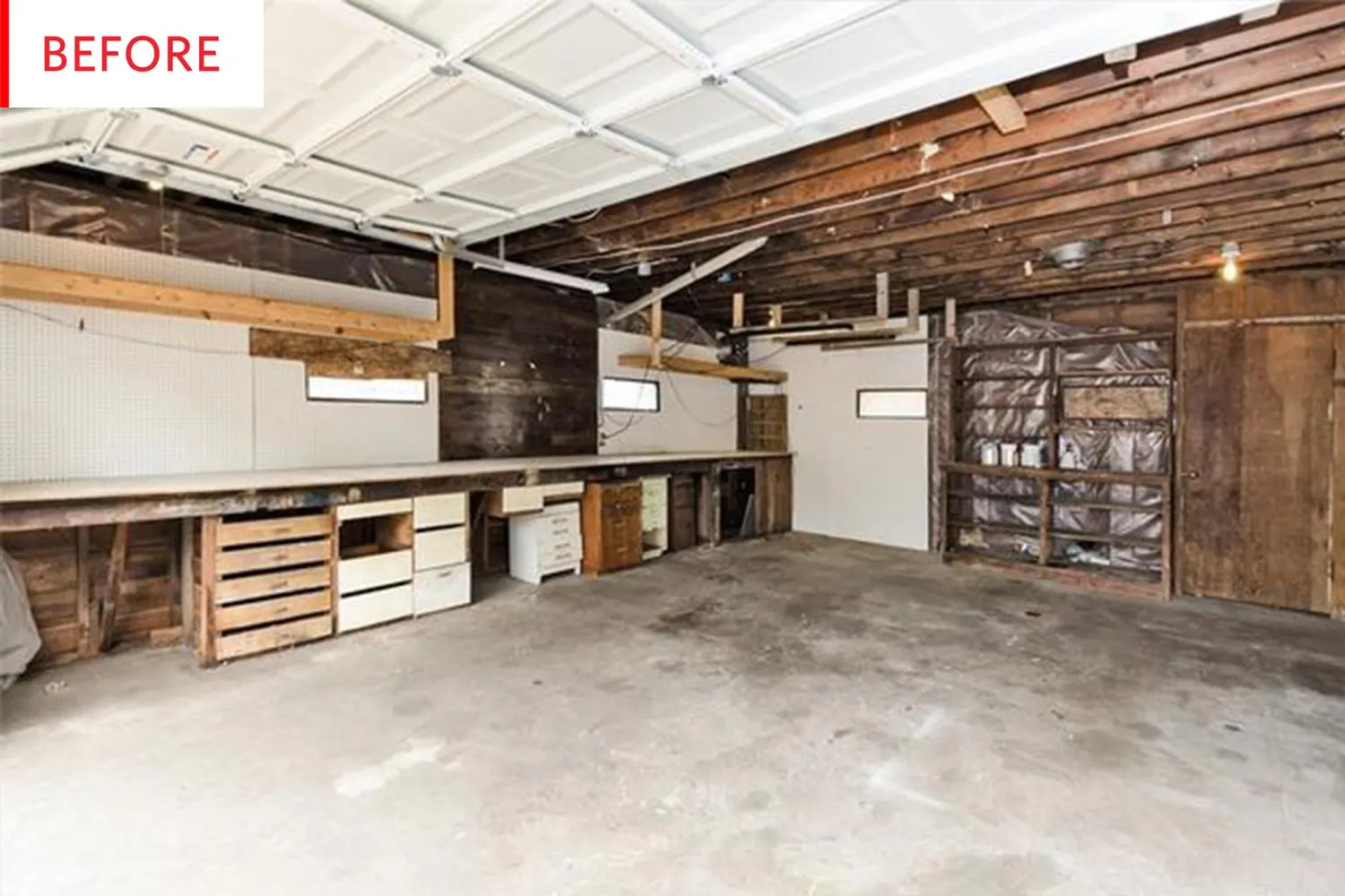 Before After From Garage To Airbnb Apartment Therapy