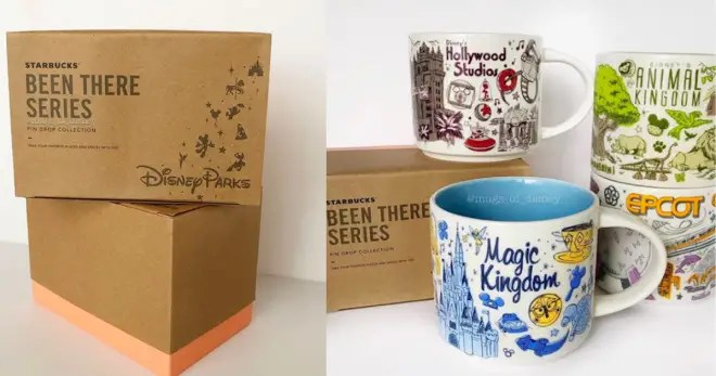 """Disney Fans Are Going to Want Every Single One of These Retro """"Been There"""" Starbucks Mugs"""