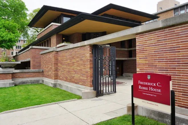 Frank Lloyd Wright's Newly Renovated Robie House Is Open to the Public