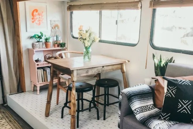 A DIY Reno of This 200-Square-Foot RV Only Cost $2,000
