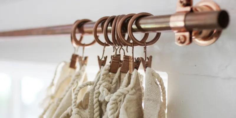 easy copper pipe curtain rod tutorial