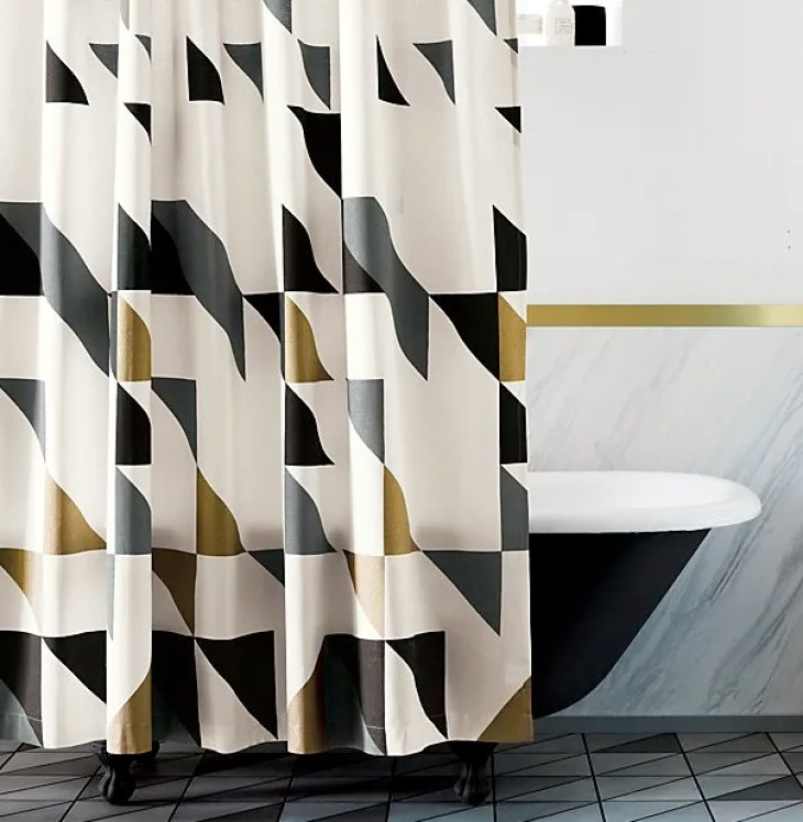 8. Triangle Shower Curtain