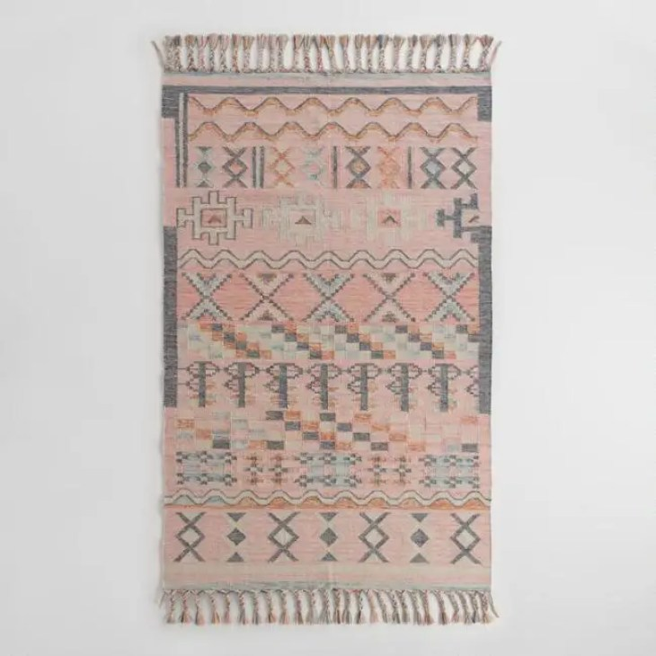 6. Boho Kilim Nagar Indoor Outdoor Rug