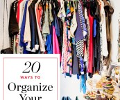 ways to organize clothes in closet