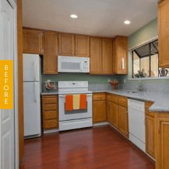 Kitchen Facelift Before And After Fall Curtains First Time Home Buyers Give Their