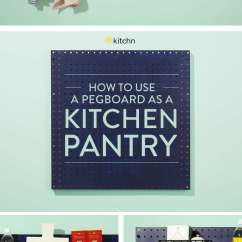 How To Add A Pantry Your Kitchen Chip Cabinets Use Pegboard As Kitchn