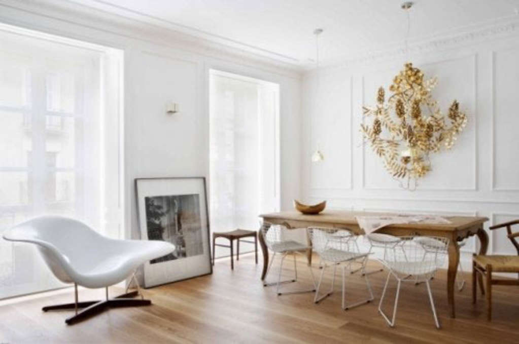 Old Amp New Pairing Antique Dining Tables With Contemporary
