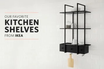 metal kitchen shelf counter stool how dusty will open shelving actually get kitchn the best ikea shelves for