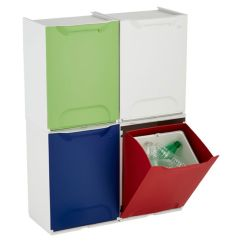Kitchen Recycle Bin Island Ideas Helpers 10 Multi Compartment Sorting Garbage Amp Drop Front