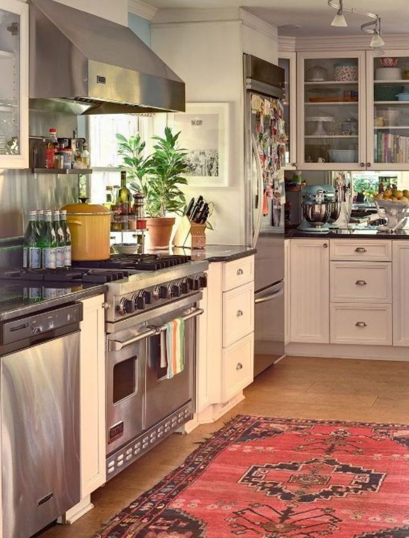 rugs for kitchen hotels with kitchens in rooms would you put an antique or oriental rug your kitchn our reasons loving oushaks kilims a are that they don t show dirt too much pattern add beautiful texture and color