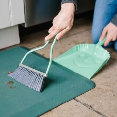 Kitchen Mats Swivel Chairs How To Clean An Anti Fatigue Mat Kitchn Do A Quick Sweep Your Or Shake It Above Trash Can Outside Remove Any Debris
