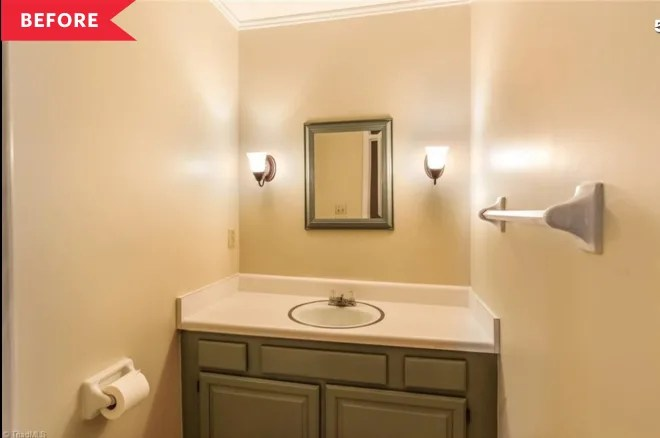 Before and After: A 0 Mini Makeover Fills This Bathroom with Color