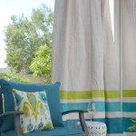 Diy These Easy Drop Cloth Outdoor Curtains For Under 50 Apartment Therapy