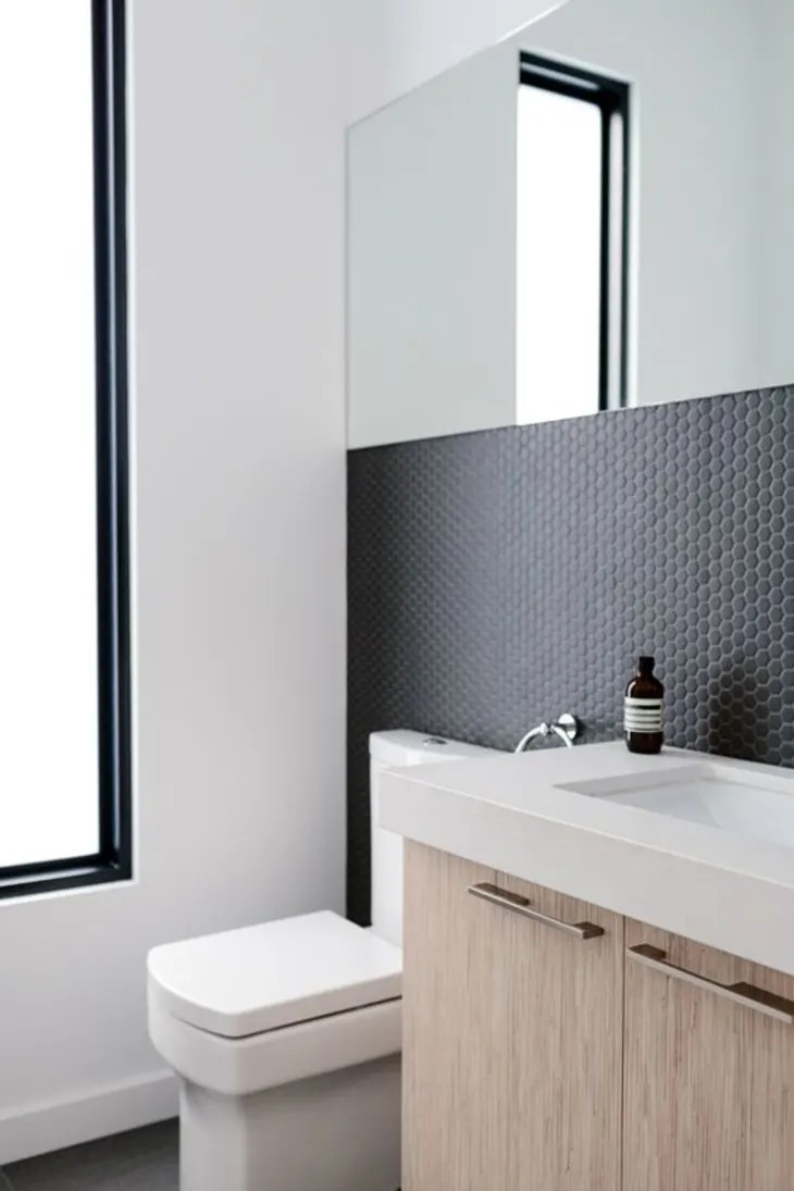 black tiles with black grout