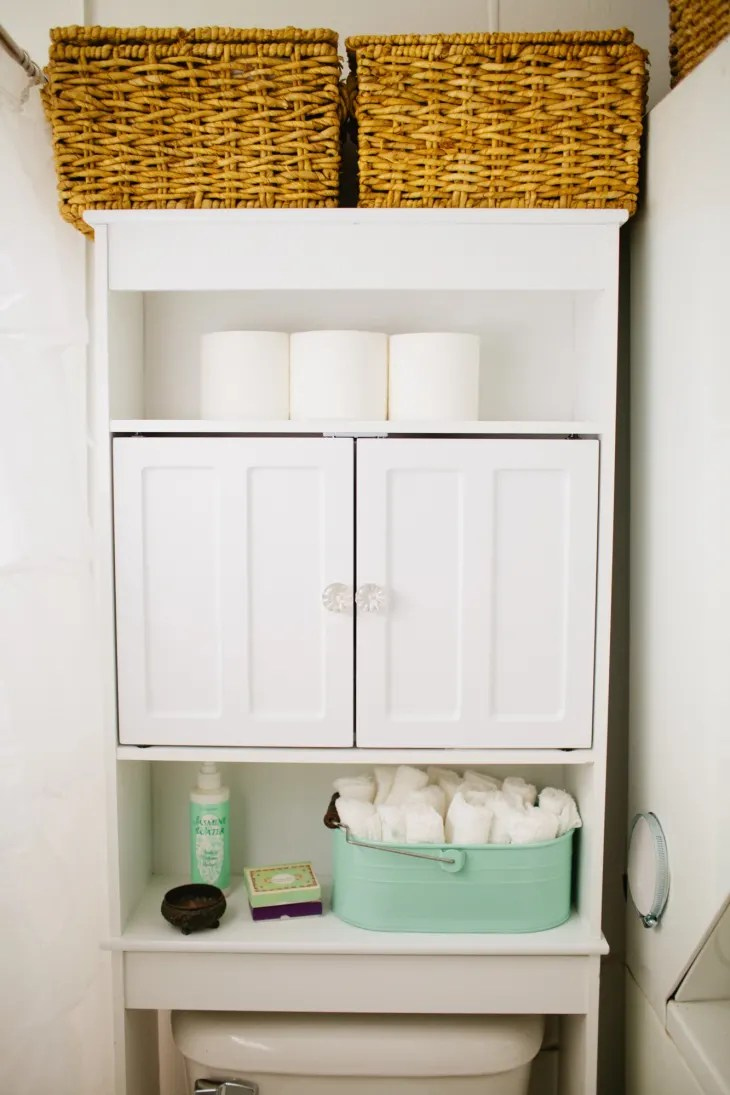 8 Ideas For What To Do With That Weird Space Above Your Toilet Apartment Therapy