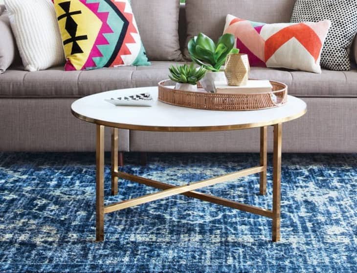 style a round coffee table