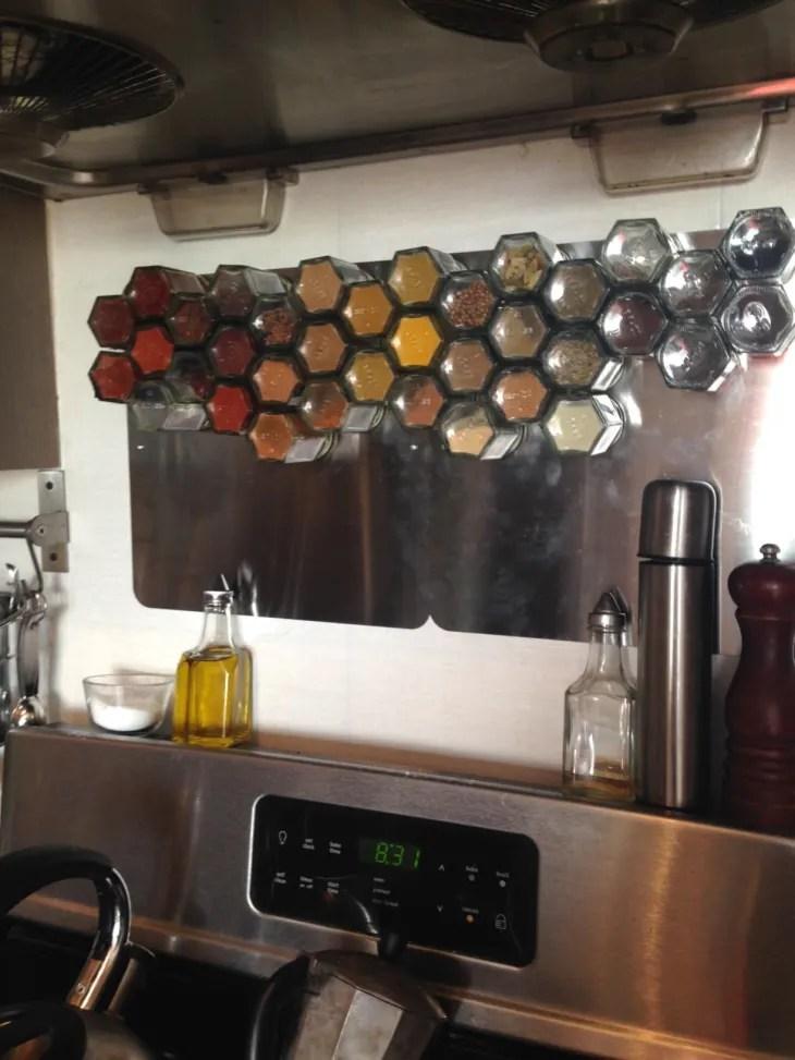 spice rack backsplash