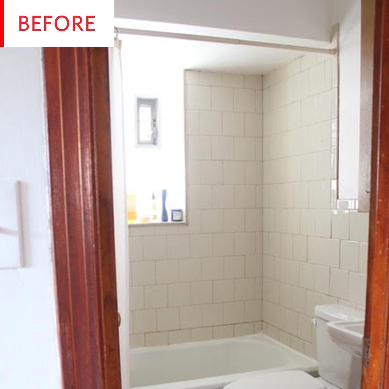 bathroom floor tile paint before after