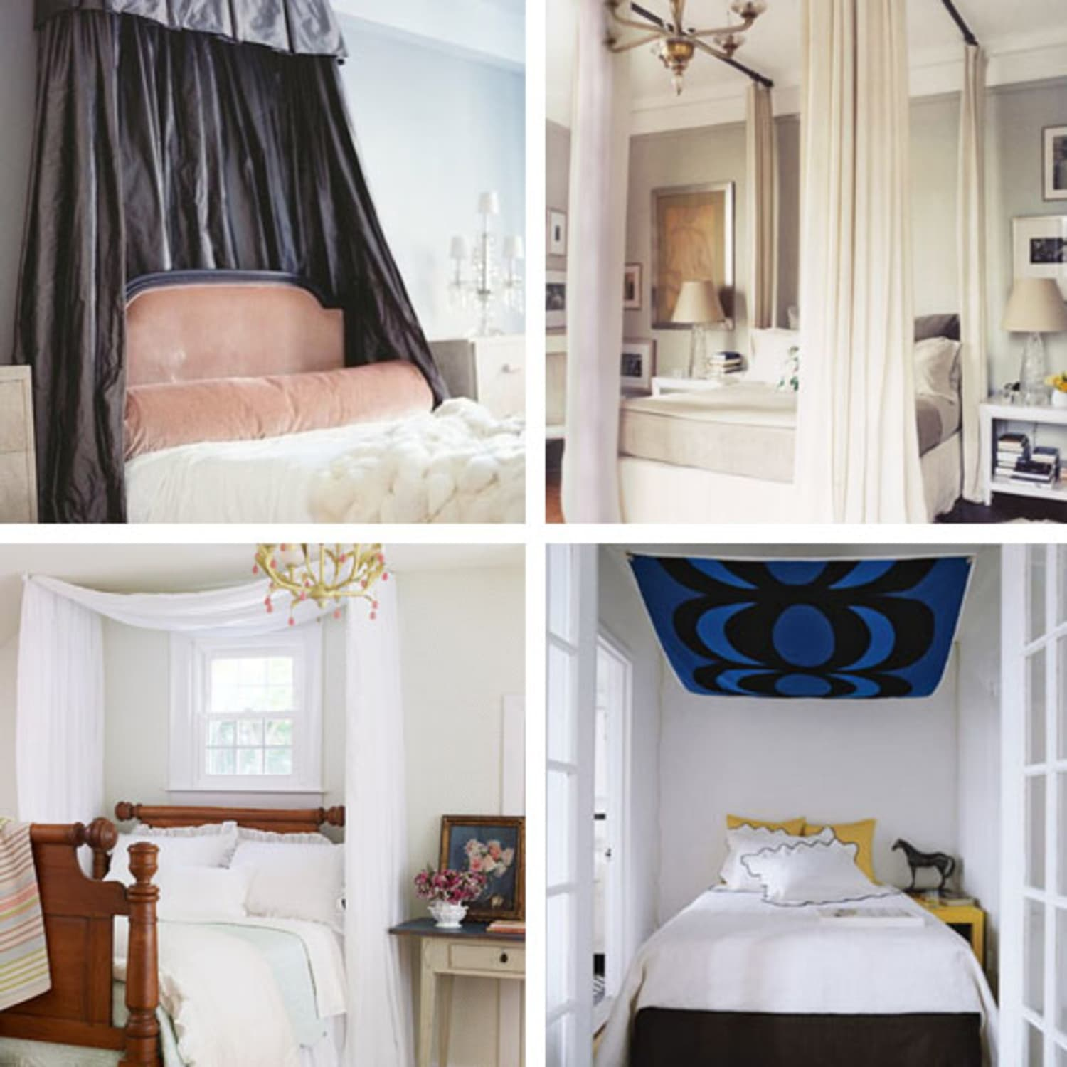 a canopy bed without