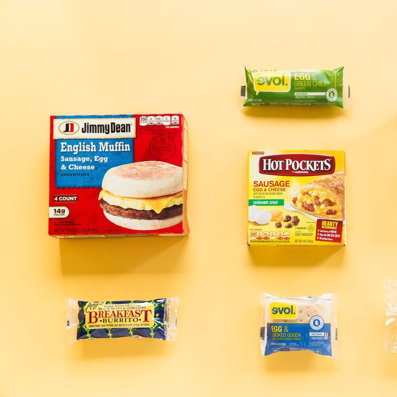 7 frozen breakfast sandwiches and