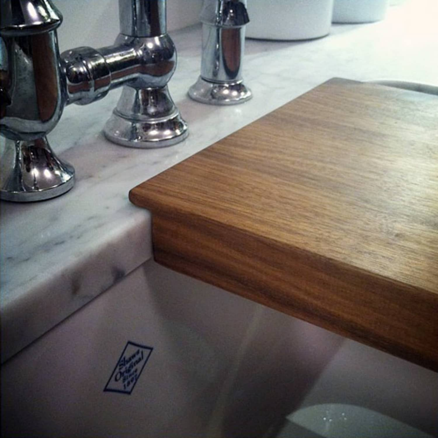 integrated cutting board for your sink