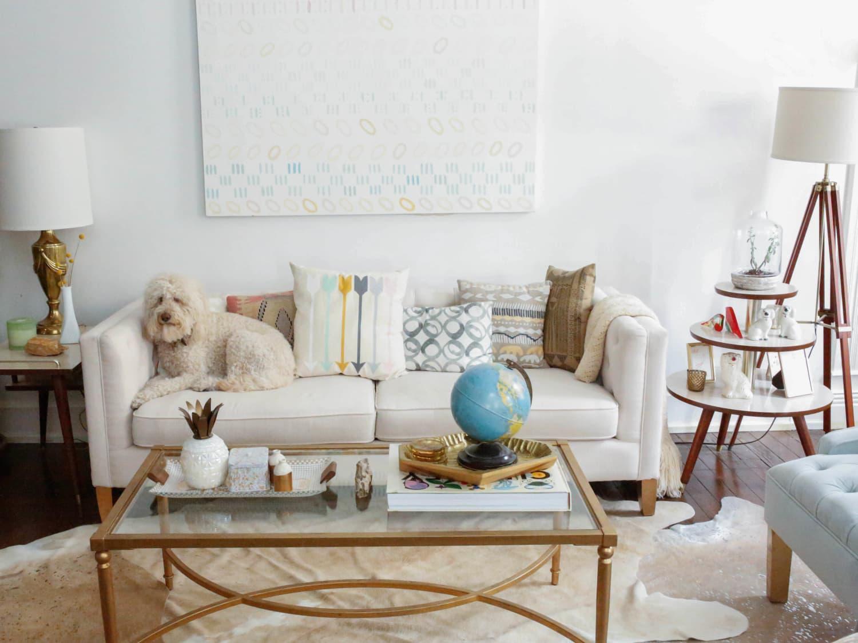 sofa pillows apartment therapy