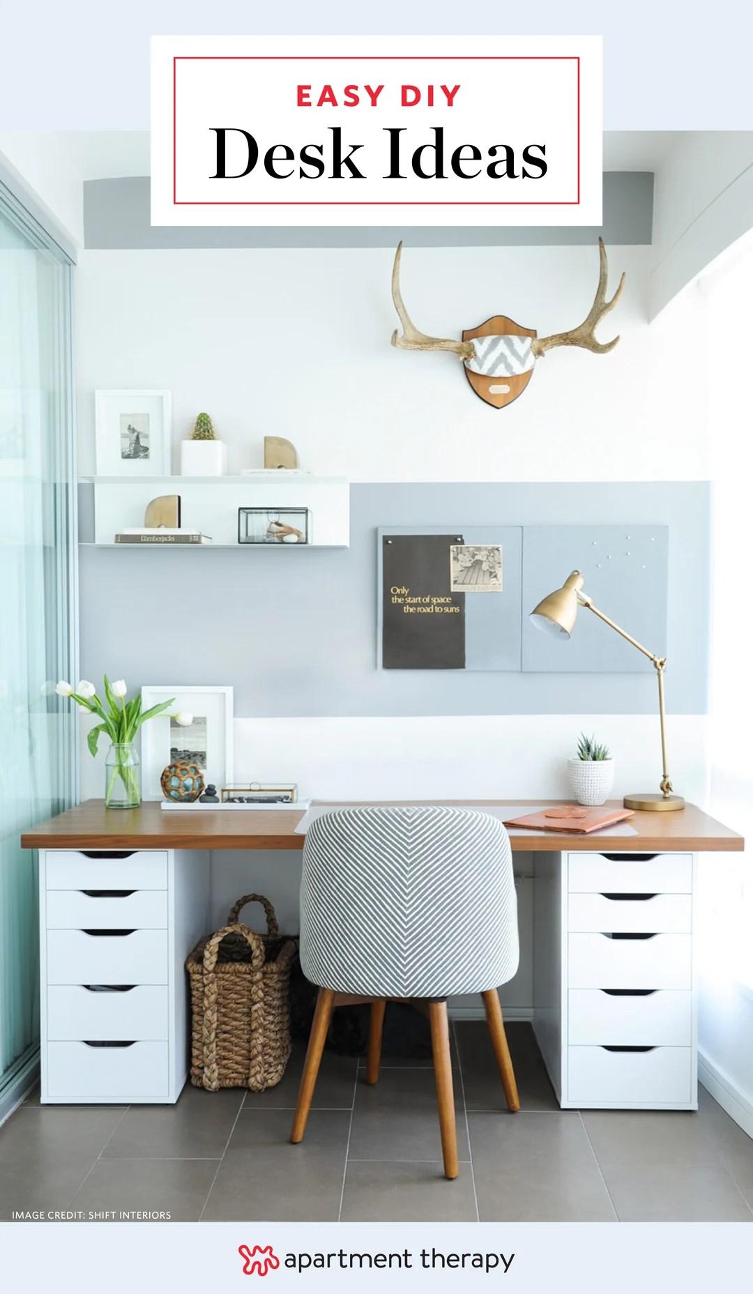 15 diy desk ideas easy cheap ways