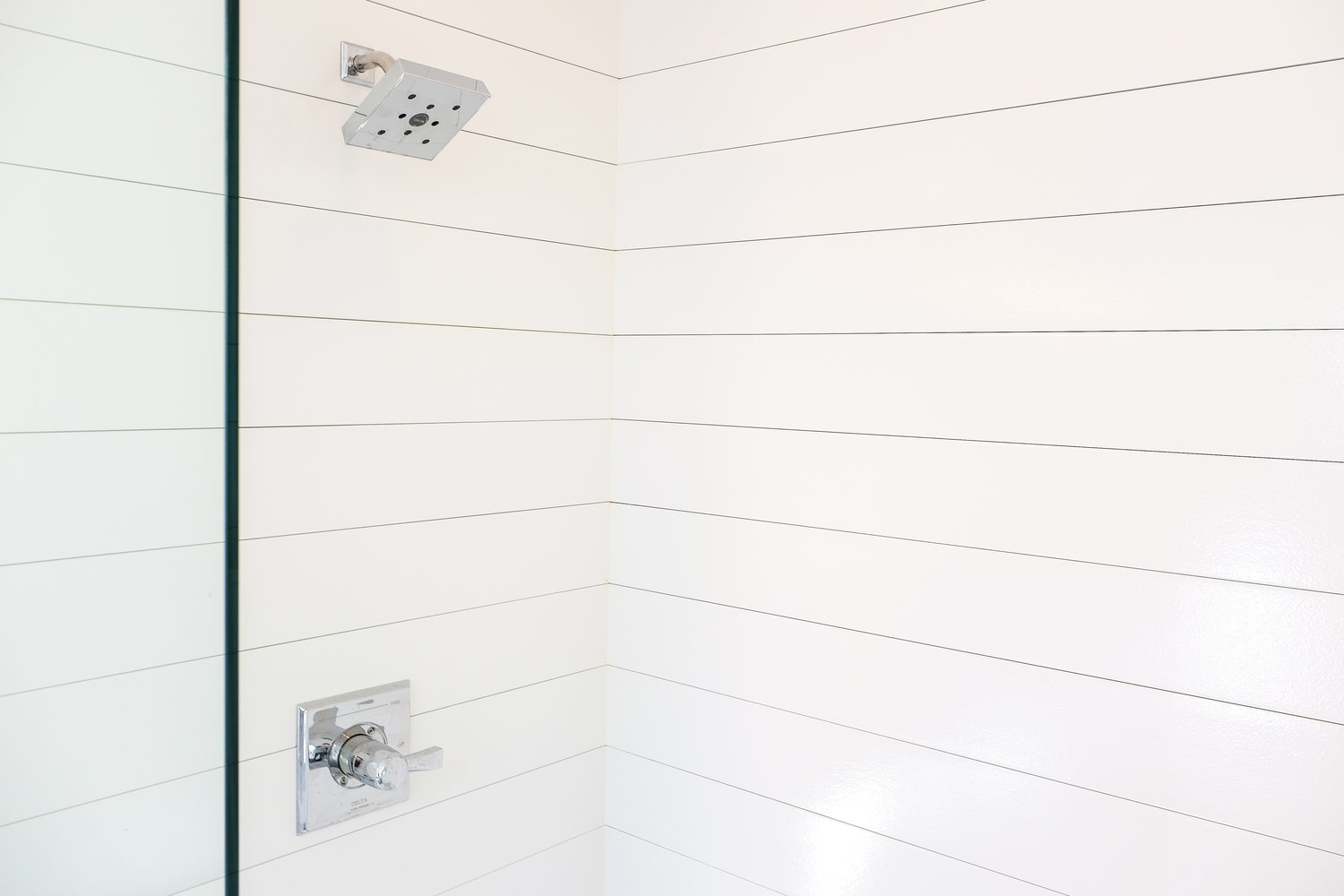first shiplap shower apartment therapy