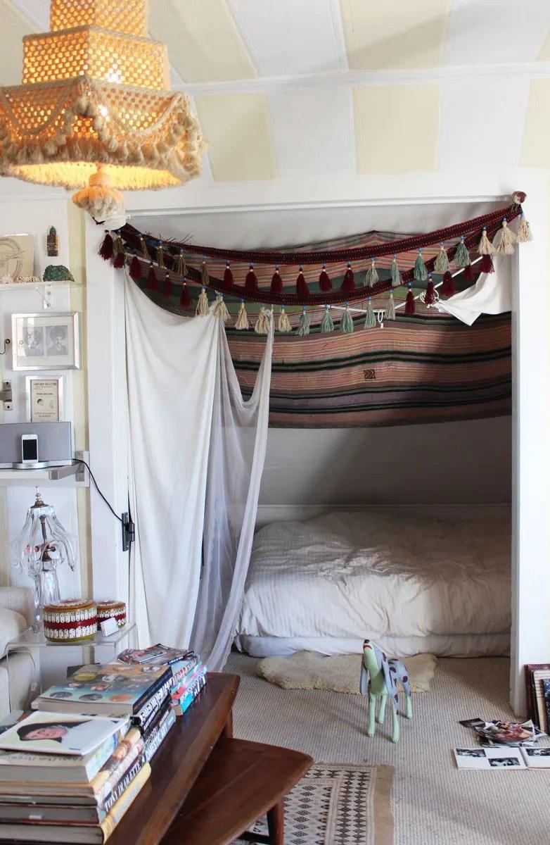 convert your closet into a bedroom