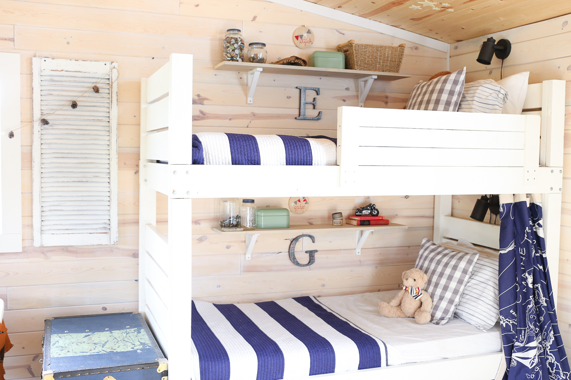 8 bunk bed shelf ideas for top bunk