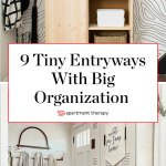 Storage Ideas For Small Entries Smart Organization For Small Entryways Apartment Therapy