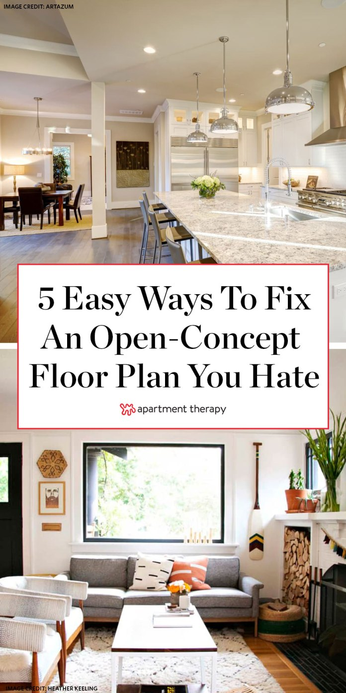 5 Ways To Close An Open Concept Floor Plan Apartment Therapy