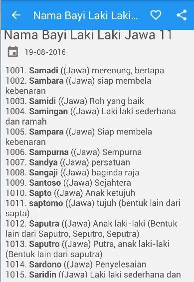 Nama Bayi Laki Laki Jawa Modern : modern, Download, Android, Books, Reference