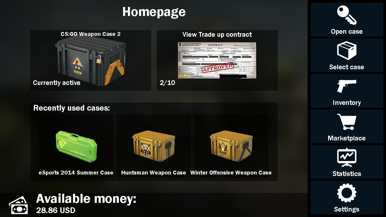 weapon case opening for