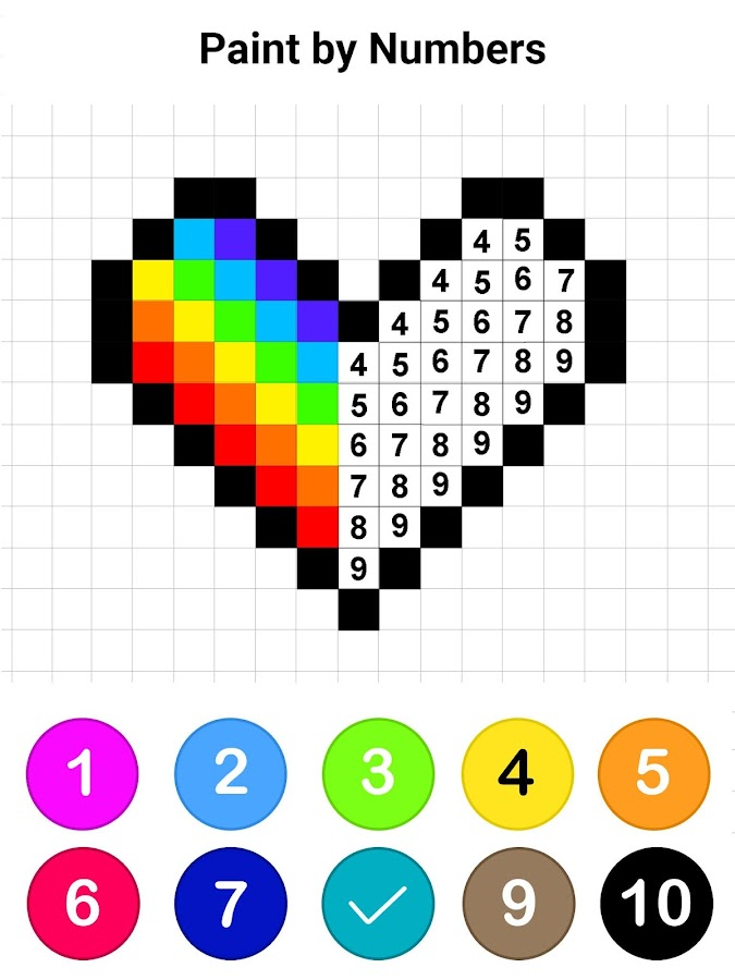 Draw Colors By Number