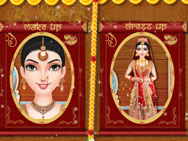 indian bridal wedding dress up games | saddha