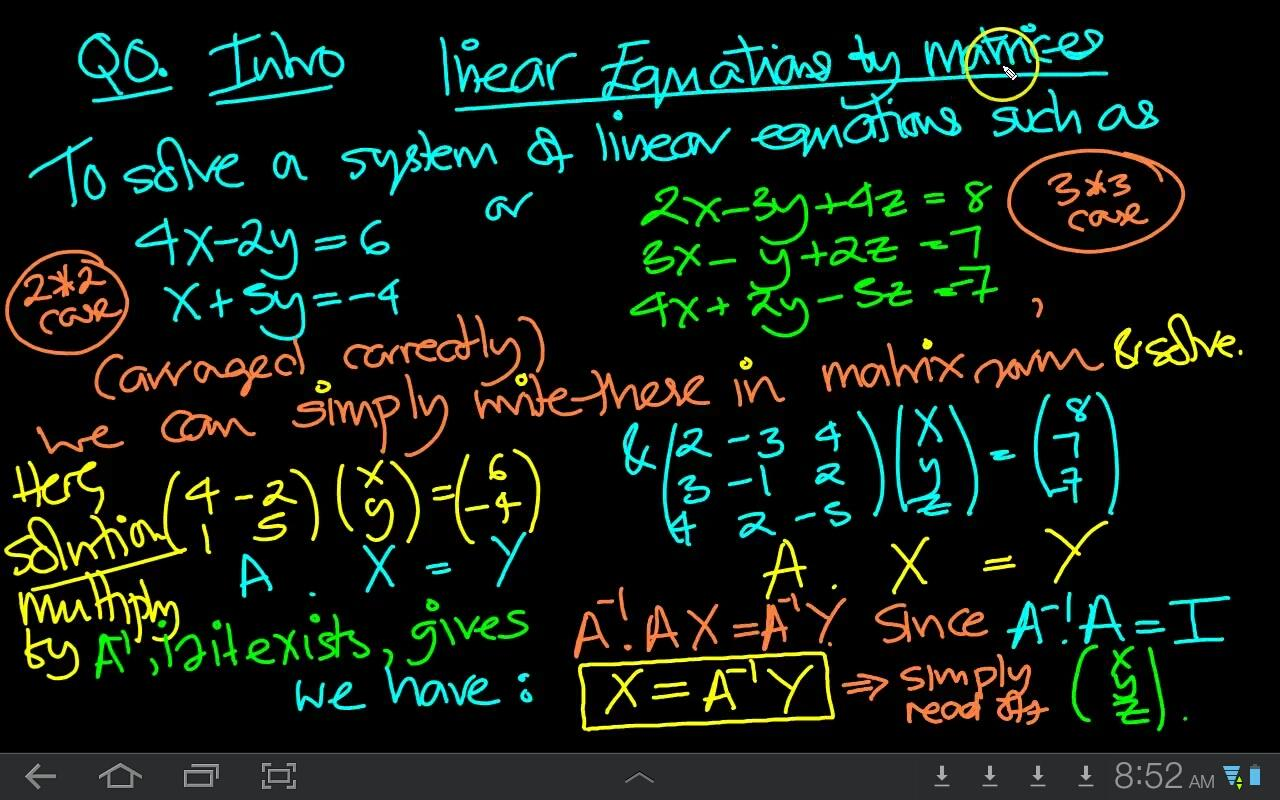 Matrices And Linear Equations 2 0 Apk Download