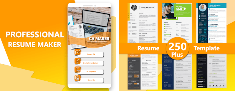 Don't waste your time making a resume on your own — download a resume template, or use our resume builder. Cv Maker By Resume Templates Covers Cv Builder Unduh Apk Versi Terbaru 1 2 3 Com Cvmaker Resume Maker Cveditor
