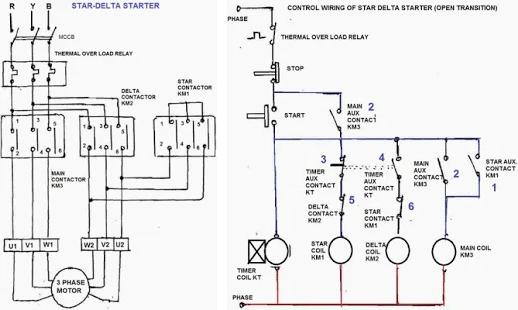 Star Delta Wiring Diagram Wiring Diagrams Schematics