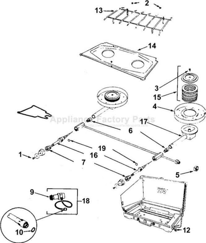Various Coleman Propane Stove Parts 5430b700