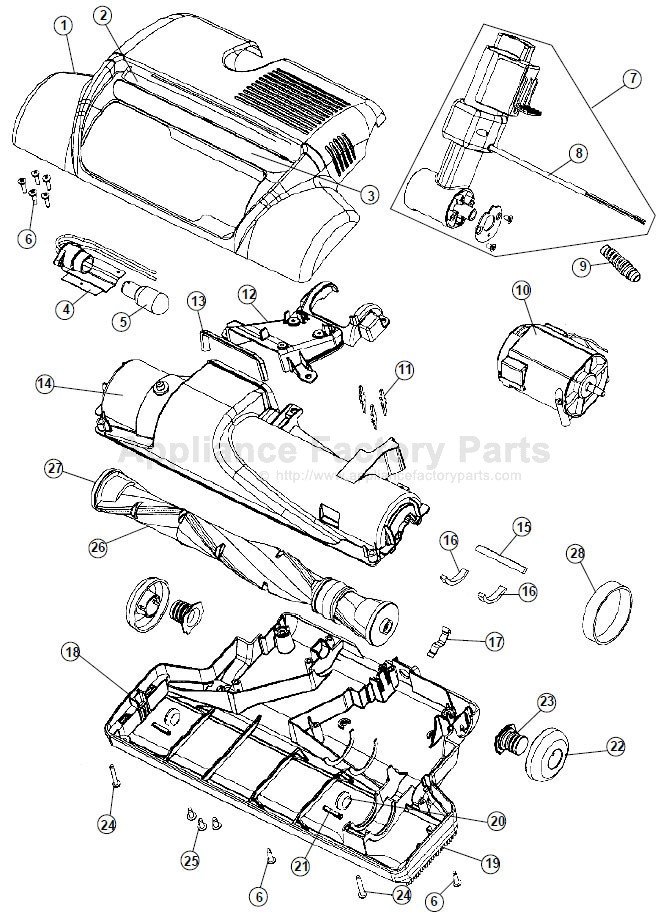 Hoover S3670 Parts
