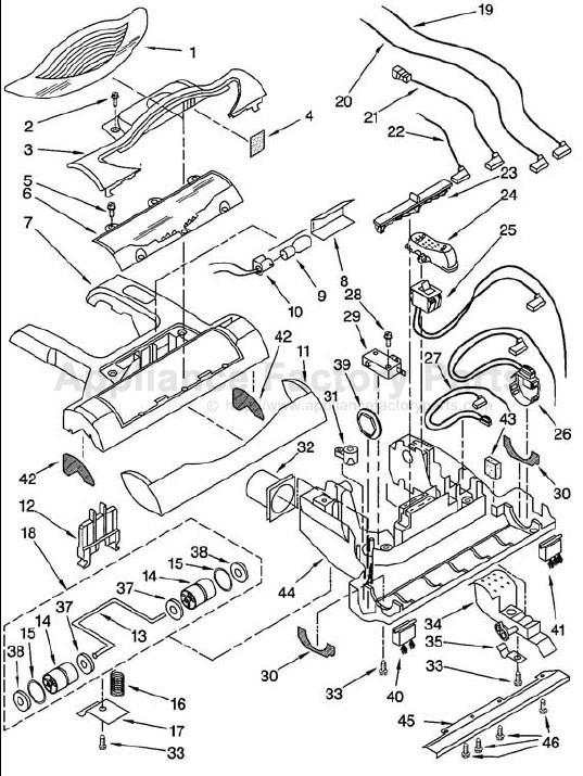 Kenmore Vacuum Cleaners Parts