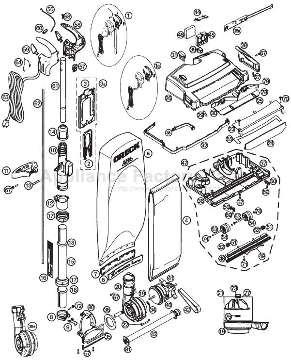 Oreck Xl Parts Diagram : oreck, parts, diagram, Oreck, XL21-700ECB, Parts, Vacuum, Cleaners