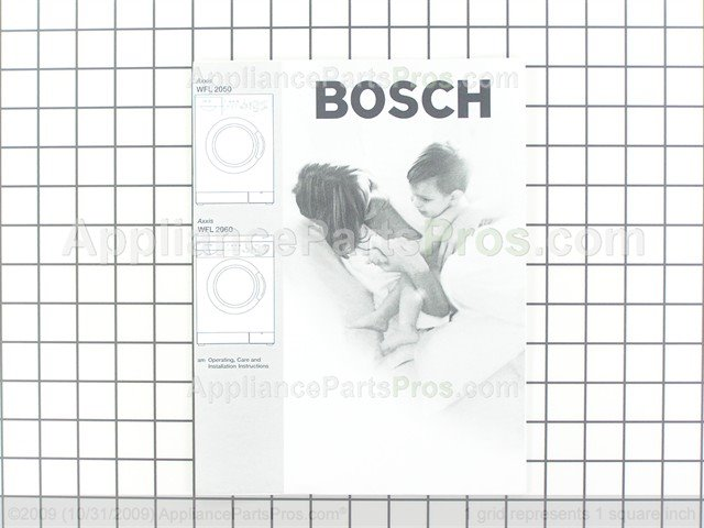 Bosch 00529445 Use & Care Manual, with Installation