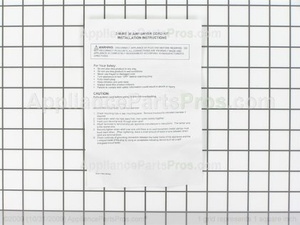 Pro TJ5654 Universal Electric Dryer Power Cord