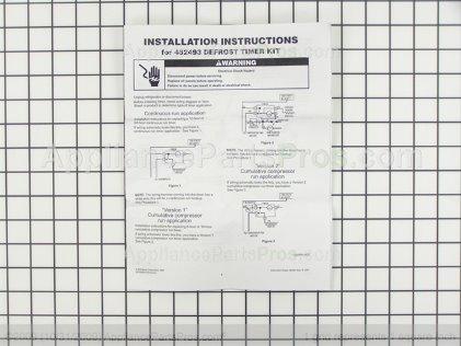 Whirlpool 482493 Refrigerator Defrost Timer Kit