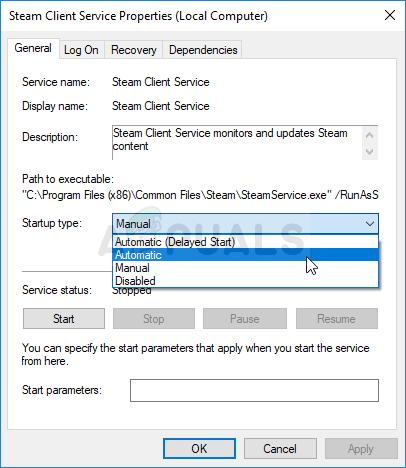 Automatischer Start des Steam-Client-Dienstes