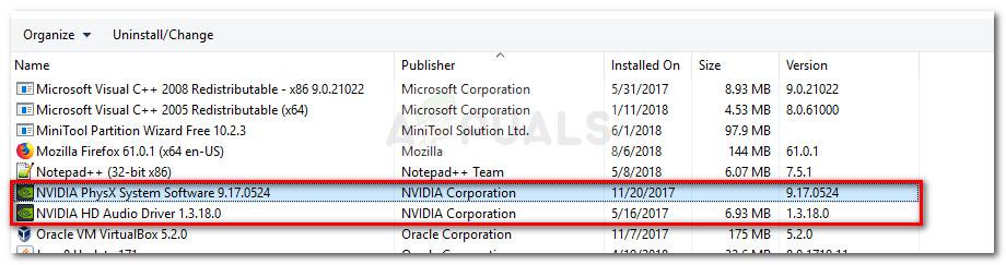 Удалите все программы, связанные с GPU